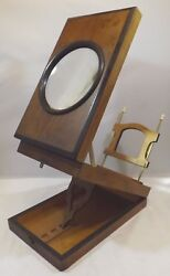 Antique Victorian Martinet Rosewood Postcard Card Viewer With Single Lense
