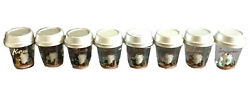 Starbucks Country Animal In Barista Apron Snow Globe Complete Set Of 8 -no Card
