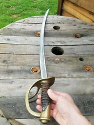 Authentic Civil War Cavalry Saber M1860 Ames Sword Chicopee Ma 1862 A.d. King