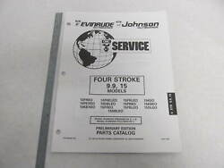 1995 Evinrude Johnson Outboard Parts Catalog 9.9 And 15 Hp 4-stroke