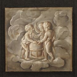 Antique Grisaille Framework Oil On Canvas Painting Astronomy Allegory Angels 800