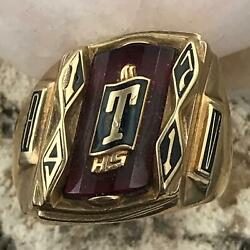 Vintage 1971 Taos High School New Mexico 10k Gold Class Ring