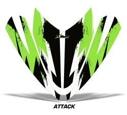 Sled Hood Graphics Kit Decal Sticker Wrap For Arctic Cat M Series M7 M8 Attk Grn