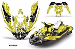Jet Ski Graphics Kit Decal Wrap For Sea-doo Bombardier Spark 2 Up 14-18 Reaper Y