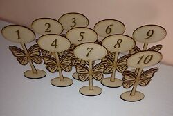 Wooden Freestanding Table Numbers/balloon Weights-wedding Party Craft Mdf