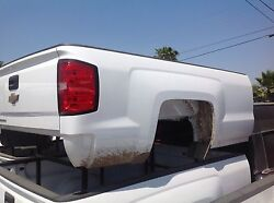 2014-18 Chevy Silverado Long 8and039 Long Bed White Truck Bed
