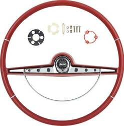 Oer R63012 Ss Red Steering Wheel Kit 1963 Chevy Impala Bel Air Biscayne