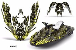 Jet Ski Graphics Kit Decal Wrap For Sea-doo Bombardier Spark 3 Up 15-18 Swift Y