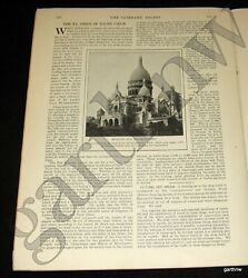 Sacre Coeur Basilica 1914 Completion + Mrs Woodrow Wilson Death And Start Of Wwi