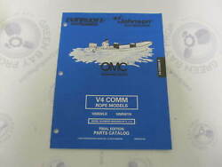 439310 Omc Evinrude Johnson V4 Comm Rope Outboard Parts Catalog 1998