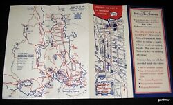 Hudson's Bay Company 1956 Victoria Bc Info Brochure Maps Customs Ferry Schedules