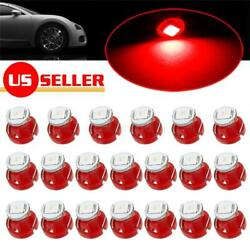 20x RED T3 Neo Wedge LED Bulbs for Car Center Console A/C Climate Control Lights