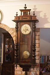 Antique German And039junghansand039 10-day Striking Wall Clock 19th Century