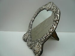Silver Mirror Sterling Table Dressing English Antique Hallmarked 1900