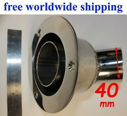 Stainless Steel Thru Hull Outlet / Exhaust Fitting 40 Mm To Webasto Eberspacher