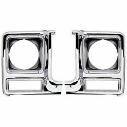 Oer Round Headlamp Bezel Set W/o Chrome Grill 1979-1980 Chevy And Gmc Pickup Truck