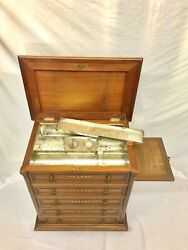 19th Century Antique Victorian Mahogany Barber's Chest Dental Cabinet