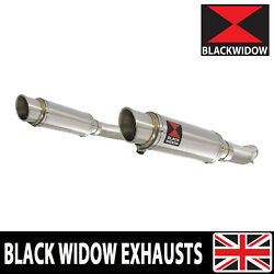 Gsx1400 K2 K3 K4 02 03 04 4-2 Exhaust Silencers End Cans Gp Stainless 230sr