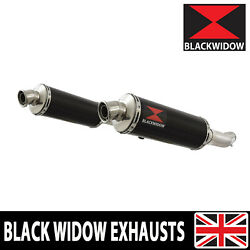 Gsx1400 K2 K3 K4 02 03 04 4-2 Exhaust Silencers End Cans Black Stainless Bn30r