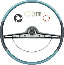 Oer Two Tone Blue Steering Wheel Kit 1963 Chevy Impala Bel Air Biscayne
