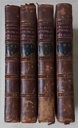 Set Of 4 Rare Vols Fellows' History Of The Bible 1777/78
