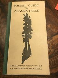 Antique 1929 And 1950 Alaska Tree Guides And Map Forest
