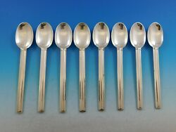 Cannes By Puiforcat France Sterling Silver Flatware Set Of 8 Teaspoons 6