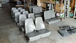 Commuter Bus Seats, Seat Belts, Mounting Brackets Complete Set Excellent Cond