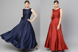 Stylish Party Wear Indian Silk Gowns Fabulous Dresses Bridal Western Fancy Gowns