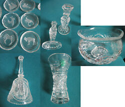 Crystal Cut Glass Candleholders Waterford Bowl Bell Galway Vase Pick One