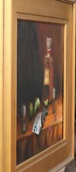 Original Oil Painting Framed And Signed Tequila Sunrise By L.b. Mckay El Paso Tx