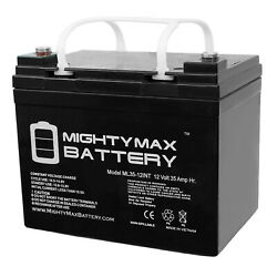 Mighty Max 12v 35ah Sla Int Battery Replaces Grass Hopper 900 Series Lawn Mower