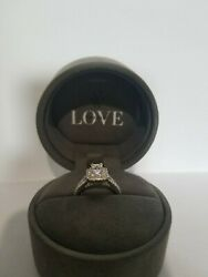 Vera Wang Love Collection 1 1/3 Kt Emerald Cut White Gold Engagement Ring