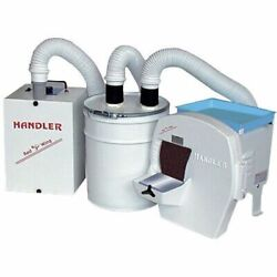Handler Dry Trimmer System Complete W Trimmer, Dust Collector And Canister 31-dts