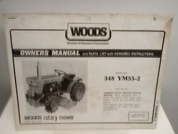 Woods 348ym55-2 Rotary Mower Owners Manual And Parts Fits Yanmar Ym155 Tractors