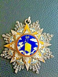 👍1940s China Chinese Silver Enamel 8th Order Of The Cloud And Banner Medal 民国雲麾勛章