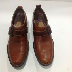 Born Brown Leather Shoes Womenand039s Size Us 9 Eur 40.5 Slip-on Loafers W5737 H5
