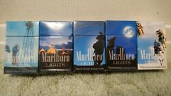 Vintage Marlboro Lights Empty Cigarette Packets Country Collection Full Set Of 5