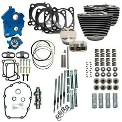 Sands 107 To 124 Water Cooled Power Package Chain Drive Chrome Harley Touring M8