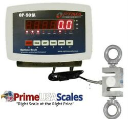 Optima Scales Op-926-3000 Digital Hanging Scale With High Precision Load Cell