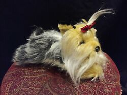 Animal Alley Yorkshire Terrier Yorkie Dog Plush Stuffed Long Multi Colored Hair
