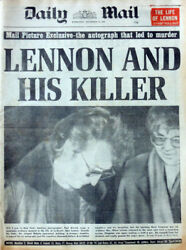 Daily Mail Newspaper 10 Dec 1980 . The Beatles John Lennon And His Killer Cover