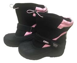 Totes Size 5 Black Pink Strap Leather Rubber Strap Closure Slip On Boots NEW $18.00