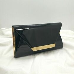 Envelope Evening Clutches Women Solid Wedding Shoulder Cross Body Black Bag $30.78