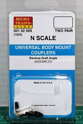 N Scale Micro Trains Universal Body Mount Couplers 2 Pair Item 00102009 1025-1