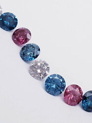 Loose White Blue & Red Lab-Grown Diamonds high quality 17.39ct approx