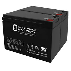 Mighty Max 12v 10ah Sla Battery Replacement For Liberty Ps1000mt - 2 Pack