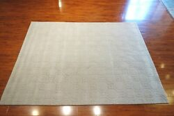 8' X 10' Hand Knotted Modern Sculpted Hexagon Rug Wool Blend Pile, Made In India