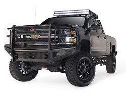 Fab Fours Ch05-s1360-1 Black Steel Front Ranch Bumper