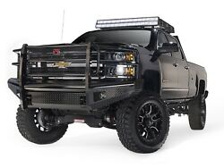 Fab Fours Ch14-s3060-1 Black Steel Front Ranch Bumper